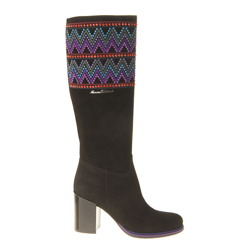 Authentic Marino Fabiani Italian Designer Boots Sizes 7,10 Black Fur