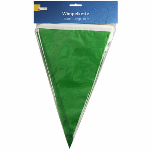 10 m Fahnen Girlanden  Girlande Wimpelkette grün-weiß aus Kunststoff