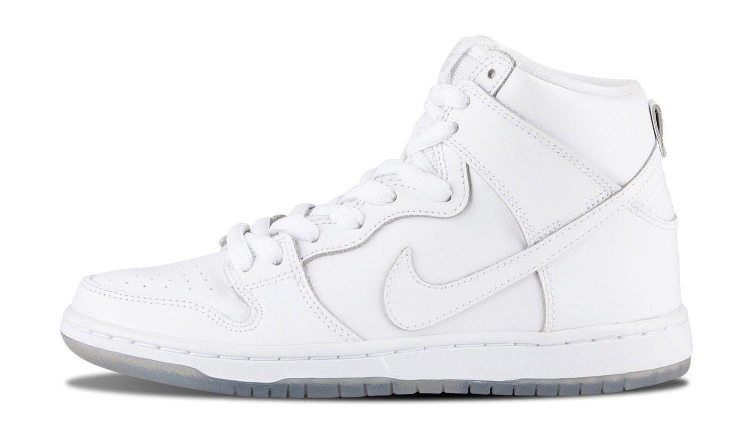 Nike DUNK HIGH PRO SB White-White Light Base Grey 305050-113 (520) Men's Shoes