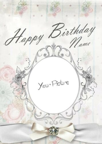 Personalised Own Photo//Picture Birthday Card Daughter//Girlfriend//Wife//Husband