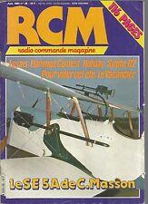 RCM  N°38 CONSTRUCTION : CAPOTS MOTEUR EN BOIS / OS 120 FS / SYLPHE 02 DT / SE5A