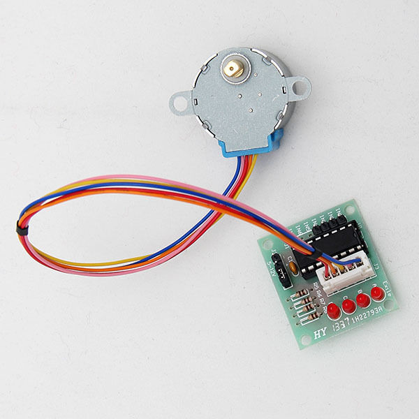 5V Stepper Motor 28BYJ-48 With Drive Test Module Board ULN2003 5 Line4 Phase New