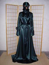 Nylon Kleid NachtKleid  zofen Dienstmädchen kleid TannenGrün AdultKopfsack mit