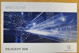 genuine peugeot 308 2015 2018 basic guide owners manual handbook rh ebay ie Peugeot 107 Peugeot 306