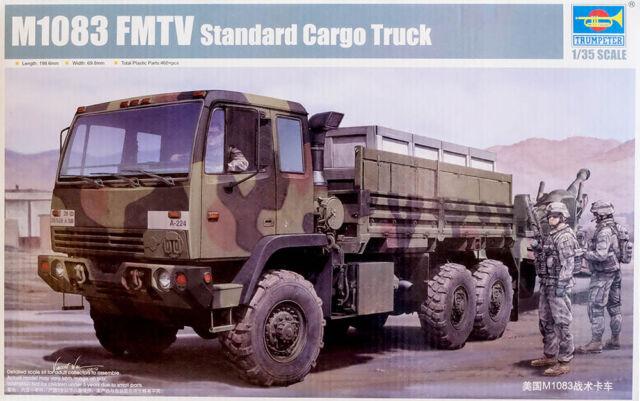 M1083 Fmtv Standard Cargo Camion Esercito Militare 1:3 5 Modello Kit Trumpeter