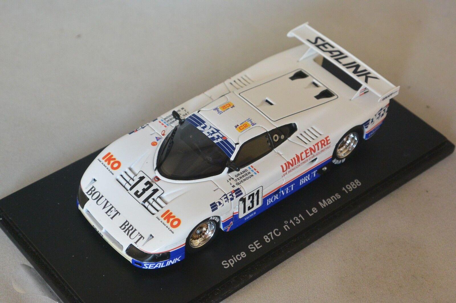Spark S3587 - SPICE SE 86C 86C 86C n°131 Le Mans 1988 Grand - Terrien - M. Guenou 1 43 c21fbf