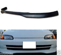 92-95 Civic 4 Door Type-r Pu Poly Urethane Black Add-on Front Bumper Lip Spoiler