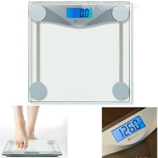 Digital Body Weight Scale Tempered Glass Bathroom LCD Screen Auto-on/Off, 400 lb