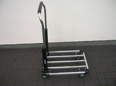 Alu Rollwagen Transportwagen Handwagen Duro® zusammenklappbar 150kg