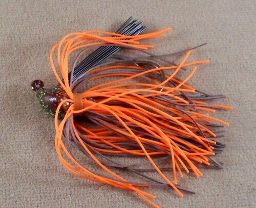 Brown Orange Brown Flake Fishing Lure// DR Custom Flipping Jig 3//8 oz Bass