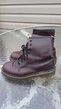 VTG 90's Dr Martens Kids Made in England Leather Brown Boots Grunge UK Size 4