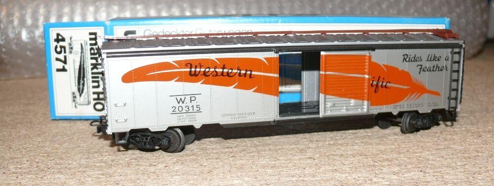 B21 Marklin 4571 US Box Car Western Pacific OVP