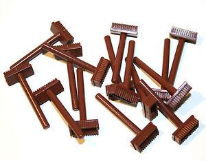 Lego 5 Stück Verkehrschild 2x2 braun Schild dreieckig 892 Neu reddish brown