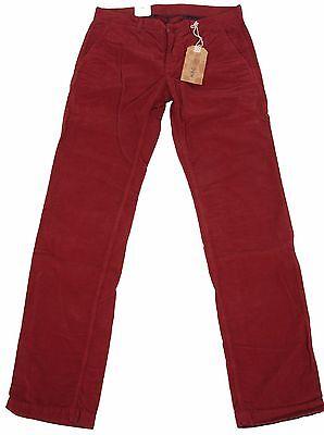 Disciplinato Mac Jeans Lenny Uomo Kord Pantaloni Men Cord Pants W33 L34 Modern Fit Chino Rosso Nuovo-mostra Il Titolo Originale