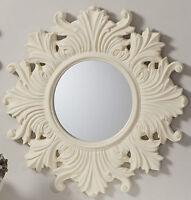 Regis Traditional Ornate Round Cream Vintage Wall Mirror - 26 (66cm) Diameter