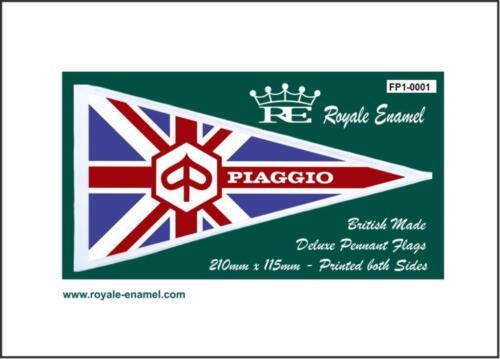 Vigano Mod FP1.0001 PIAGGIO VESPA UNION JACK Royale Antenna Pennant Flag