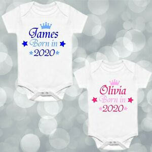 Production Personalised Baby Vest Baby Grow 100/% Cotton Boys Girls Bodys Cute
