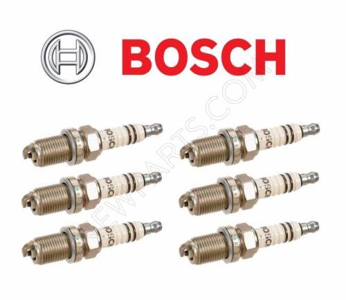 7927 Spark Plug Set 6-For Mercedes W124 R129 W140 W202 W210 BOSCH OEM FR-8-DC