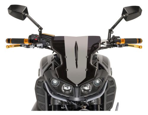 Windshield Windscreen w// Mounting Bracket For 2017-2018 Yamaha FZ MT 09 FZ09