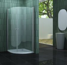 SCALLO 90 x 90 Viertelkreis Glas Duschkabine Duschtasse Dusche Duschabtrennung