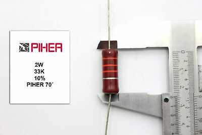 1//2W 33K 5/% *1 PC* NEW ORIGINAL 1970´S VINTAGE PIHER RESISTOR