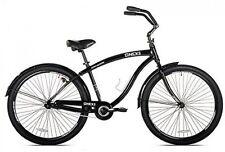 "Beach Cruiser Bicycle Mens Bike 29"" Black Aluminum Frame 1-speed Ride On Outdoor"