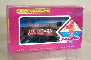 HORNBY R087 H HOTSON ELMBRIDGE STATION 4 PLANK COAL WAGON 25 MINT BOXED my