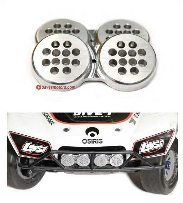 Craftwerks Billet Light Covers for the Losi 5ive-T - bluee