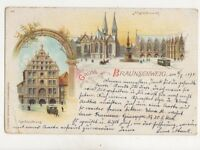 Gruss Aus Braunschweig 1898 Postcard Germany 021b