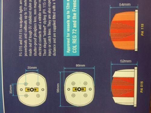 Bootsbeleuchtung Licht Navigationslicht rot grün 12 Meter Boot G30551 R30552