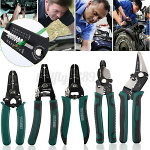 5Kinds Multifunctional Cable Crimper Cutter Wire Stripper Decrustation