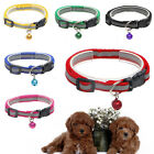 1pc Fashion Adjustable Nylon Dog Collar Puppy Cat Pet Collar Necklace with Bell