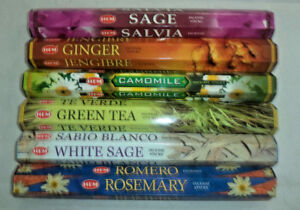 Hem Herbs and Spices 120 Incense Sticks 6 x 20 Stick Herbal Combo Best Sellers