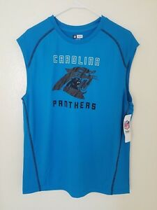 63843743 Details about Carolina Panthers NFL Majestic Team Apparel Muscle T-Shirt  TX3 COOL NWT