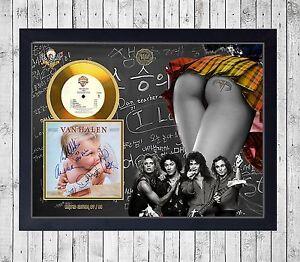 VAN-HALEN-1984-CUADRO-CON-GOLD-O-PLATINUM-CD-EDICION-LIMITADA-FRAMED