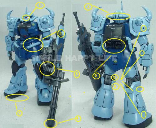 Metal Detail Up Part Set For Bandai MG 1//100 MS-07B-3 B3 Gouf Custom ❶USA❶
