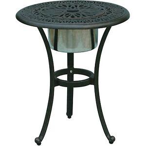 Patio-End-Table-Cast-Aluminum-Furniture-Elisabeth-Ice-Bucket-Insert-Bronze
