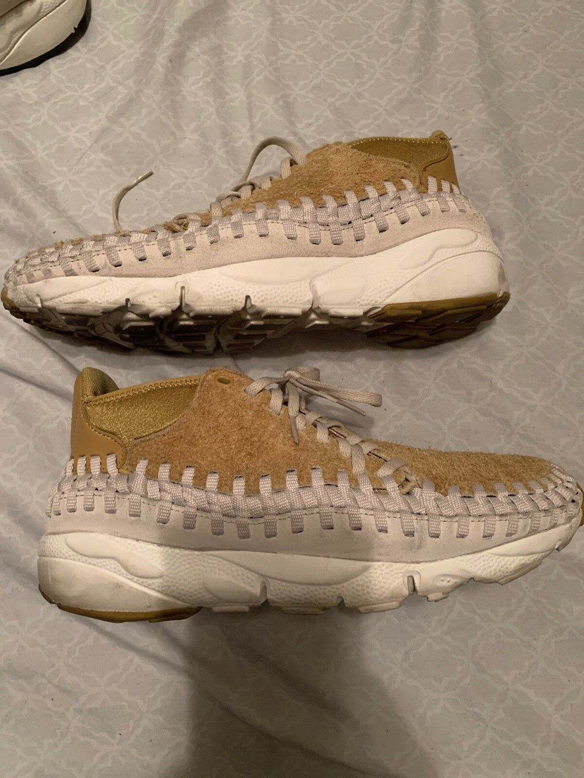 NIKE AIR FOOTSCAPE WOVEN CHUKKA QS FLAT gold MEN'S SZ 12 Used 913929-700