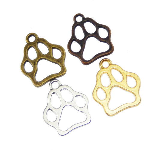 19*16*1mm Different Color Alloy Dog Footprint Pendant Jewelry Accessory 45pcs