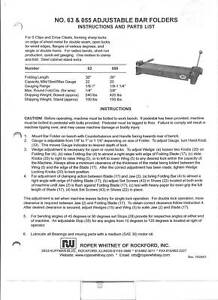 Pexto Roper Whitney 0585 Owners Manual