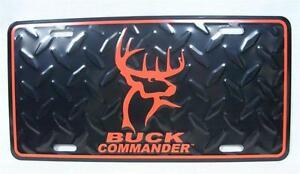 Buck Commander Diamond License Plate Car Truck Tag Duck Dynasty Deer Hunting