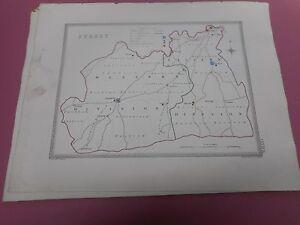 100-ORIGINAL-SURREY-LONDON-MAP-BY-CREIGHTON-C1842-VGC
