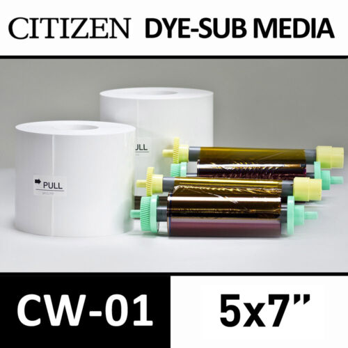 "5x7/"" CITIZEN CW-01 Photo paper /& ribbon print media pack"