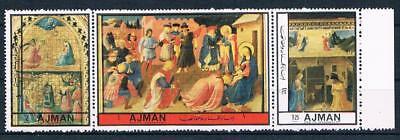 Sanft Ajman 2407-2409; Europ. Gemälde, Satz Kompl. Postfr. **