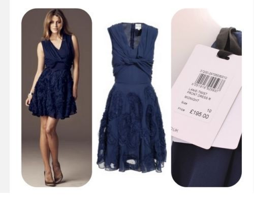 Ex Reiss highstreet midnight bluee dress RRP