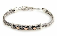 Sterling Silver Bracelet with 18k Gold Accents 'Majapahit Princess' NOVICA Bali