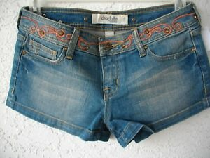 Image is loading New-Western-denim-shorts-embroidered-crystal-copper-thread- c155d467f4b