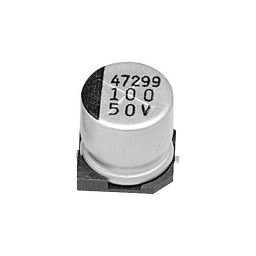 JB Capacitors 100uF 20/% 50V 105°c SMD Aluminium Electrolytic Capacitor T//R