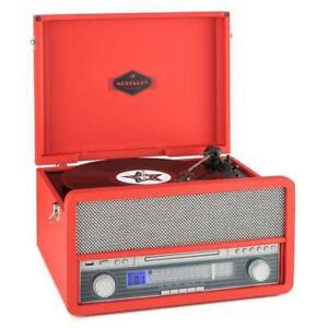 Tocadiscos-Retro-Reproductor-Vinilo-Equipo-Estereo-Bluetooth-Vintage-B-Stock