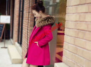 Fashion Women Winter Korean Long Coat Jacket Windbreaker Slim Outwear Parka SIBO